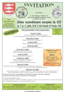26e Rassemblement Européen du SCCF - Saint Amand en Puisaye (58) @ Saint Amand en Puisaye (58) | Saint-Amand-en-Puisaye | Bourgogne Franche-Comté | France