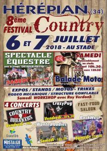 8e Festival Country – Hérépian (34) @ Stade | Hérépian | Occitanie | France