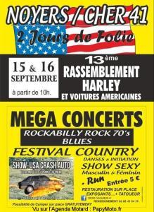 13e Rassemblement Harley et voitures Américaines - Noyer Sur Cher (41) @ Noyer (41) | Noyers-sur-Cher | Centre-Val de Loire | France