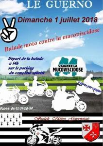 Balade Moto contre la Mucoviscidose - Breizh Motos Guernolais - Le Guerno (56) @ Parking Complexe sportif | Le Guerno | Bretagne | France