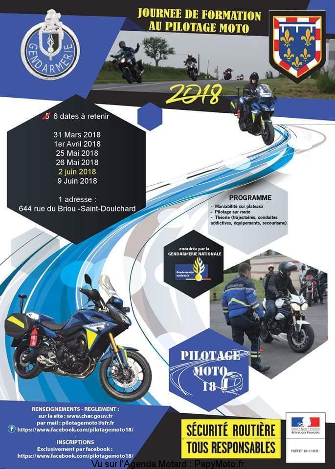 Journée de formation au pilotage Moto – Saint Doulchard (18)