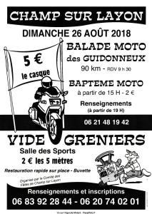 Balade Moto des Guidonneux - Champ sur Layon (49) @ Champ sur Layon (49) | Bellevigne-en-Layon | Pays de la Loire | France