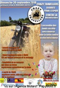 En route pour l'espoir contre la Mucoviscidose - Crazy Travellers - Donnemarie-Dontilly (77) @ Parking du Collège | Donnemarie-Dontilly | Île-de-France | France