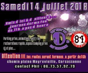 Journée Dermafeu - DermaCrew MC – Carcassonne (11) @ Chemin plaine Mayrevieille | Carcassonne | Occitanie | France