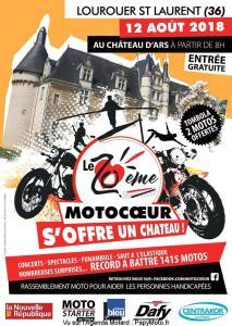 Le 20e Motocoeur s'offre un chateau - Lourouer Saint Laurent (36) @ Chatea D'Ars   Lourouer-Saint-Laurent   Centre-Val de Loire   France