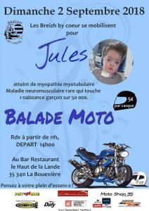 BALADE MOTO Pour Jules -BREIZH BY COEUR – BOUËXIERE (35) @ Bar Restaurant le Haut de la Lande | La Bouëxière | Bretagne | France