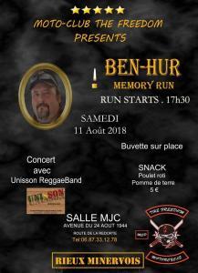 Ben-Hur Memory Run - The Freedom- Rieux Minervois (11) @ Salle mjc | Rieux-Minervois | Occitanie | France
