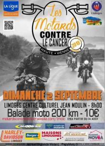 Les Motards contre le cancer - Limoges (87) @ Centre Culturel Jean Moulin | Limoges | Nouvelle-Aquitaine | France