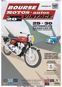 Bourse Motos - autos Vintage - Cadaujac (33) @ Parc du chateau | Cadaujac | Nouvelle-Aquitaine | France