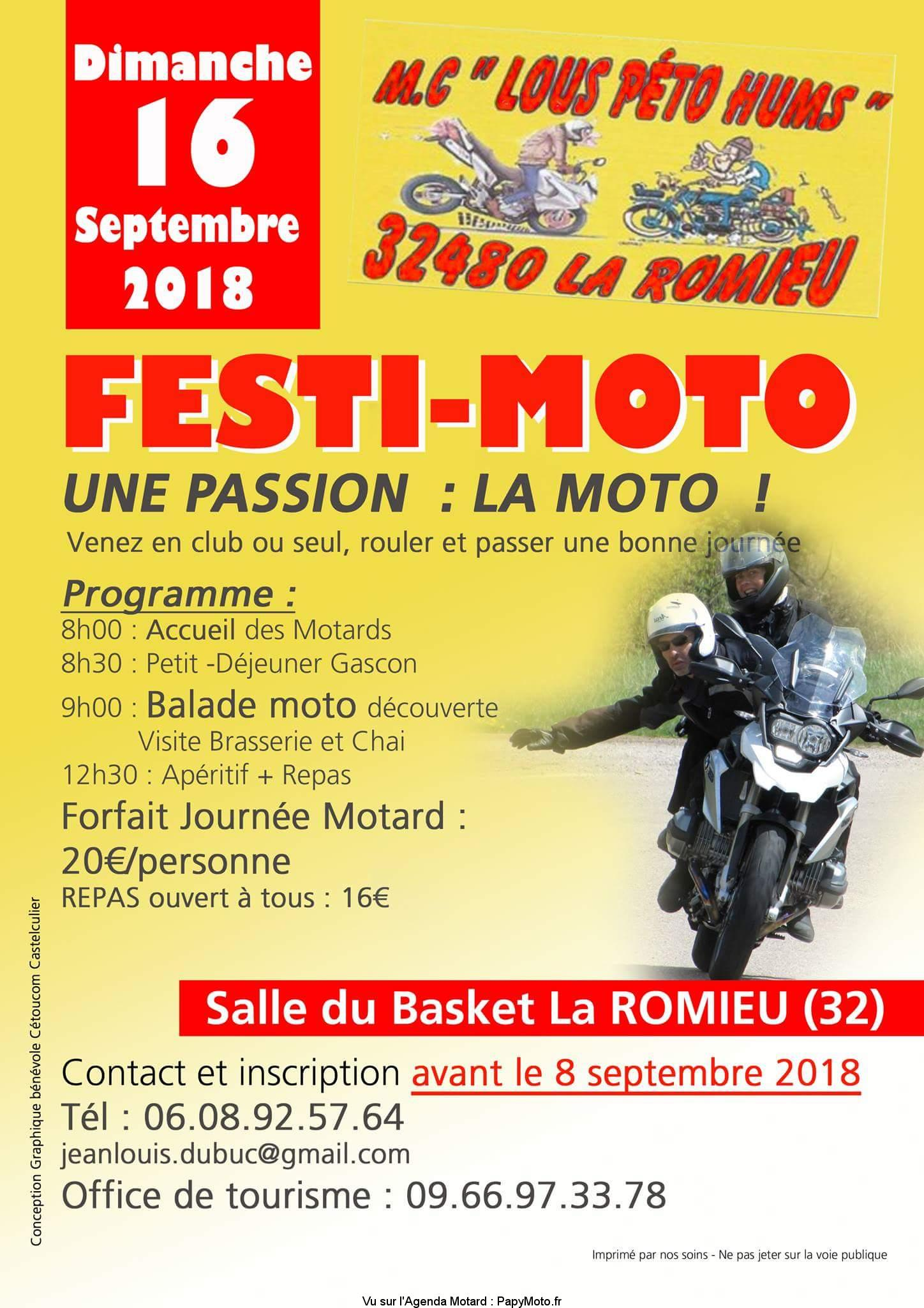 Festi-Moto – M.C. «Lous Péto Hums» – La Romieu (32)