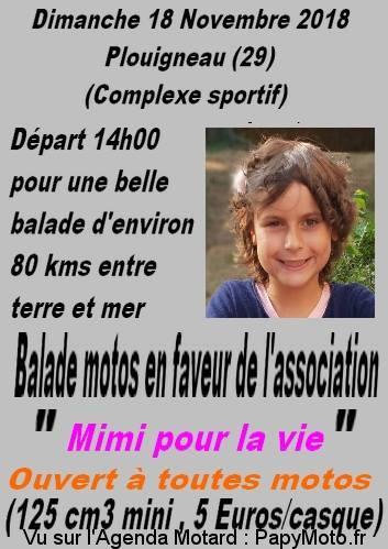 Balade motos en faveur de l'association Mimi pour la vie – Plouigneau (29)