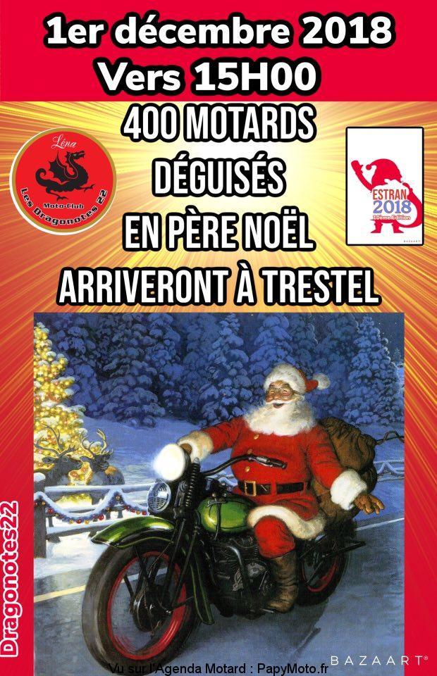 400 Motards déguisés en Père Noël – Les Dragonotes 22 Moto Club – Pluzunet – Locquemeau – Trestel – Lannion (22)