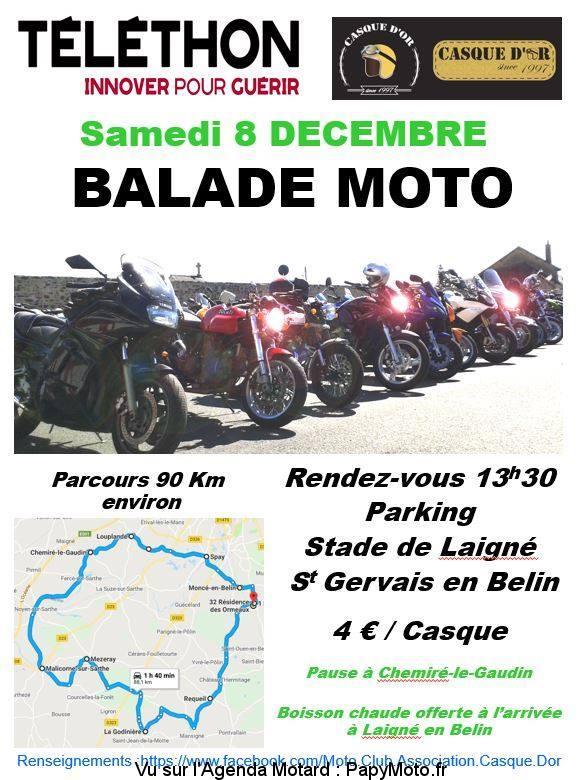 Balade Moto – Téléthon – Saint Gervais en Belin (72)