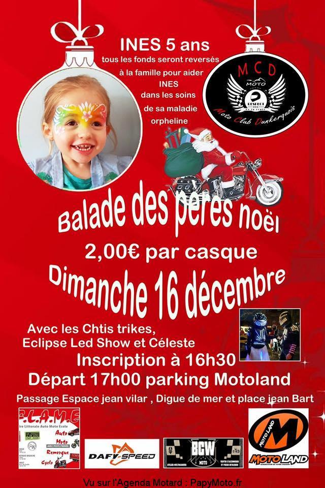 Balade des Pères Noël – Moto Club Dunkerquois - Dunkerque (59)