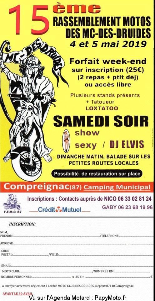 15e Rassemblement Motos  des MC-Des Druides - Compreignac (87)