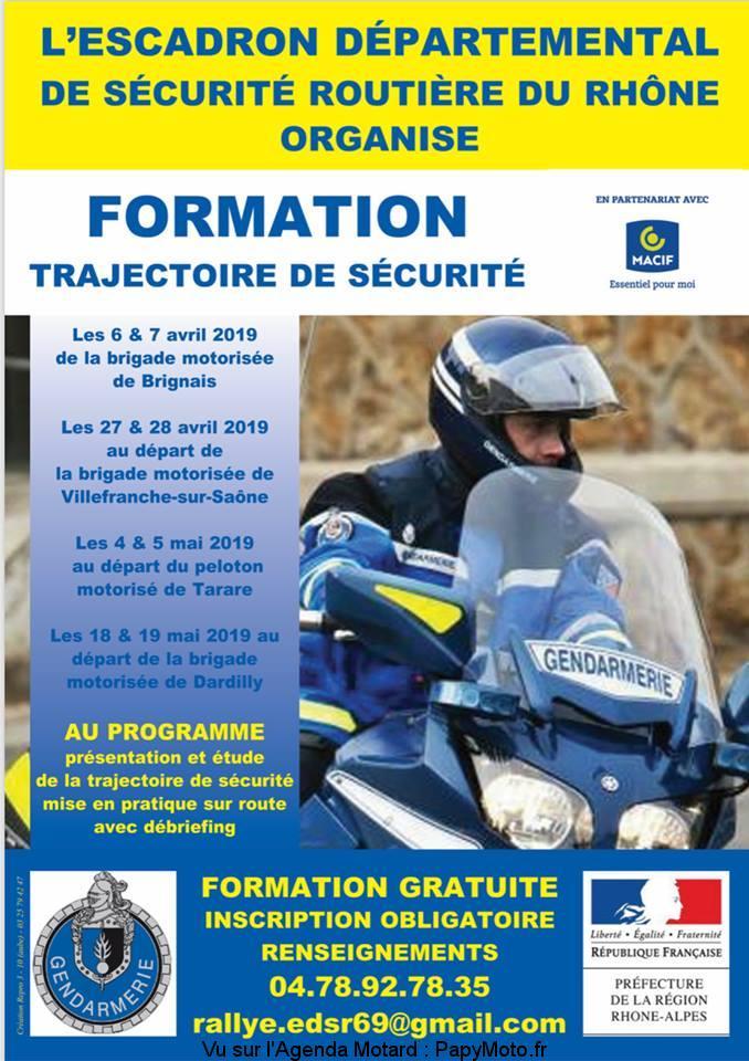 Formation trajectoire de sécurité – Brignais – Villefranche sur Saône – Tarare Dardilly (69)