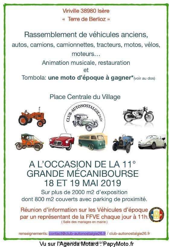 11e Mécanibourse Rassemblement de véhicules anciens – Viriville (38)