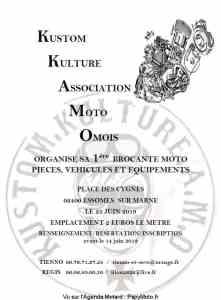 1e Brocante moto - Kustom Kulture Association Moto Omois - Essomes (02)