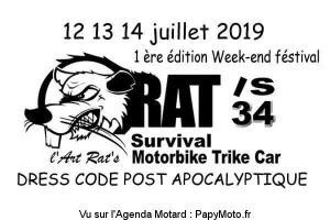 1e rencontre du RAT'S 34 Festival - Thèzan-Lès-Béziers (34) @  StarBike Galerie d'Art - Association chemin de la bédissière, 34490 Thèzan-Lès-Béziers