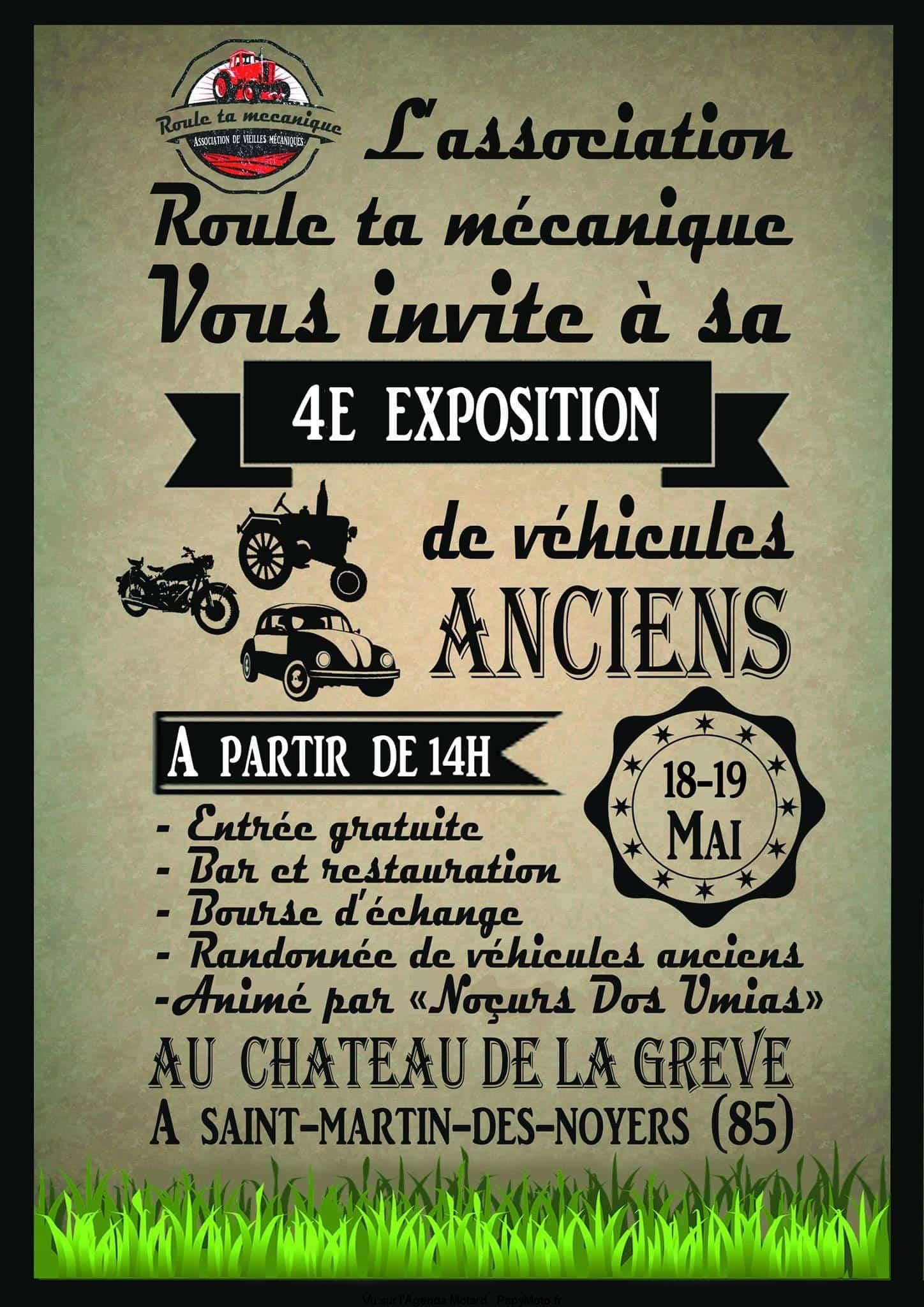 4e Exposition de véhicules anciens – Saint Martin des Noyers (85)