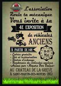4e Exposition de véhicules anciens - Saint Martin des Noyers (85) @ Chateau de la Gréve