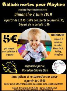 Balade Motos pour Mayline - Macadam Sliders Club - Javené (35) @ Salle des sports
