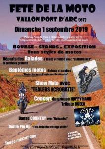 Fête de la Moto – Vallon Pont d'Arc (07) @ Vallon Pont d'Arc (07)