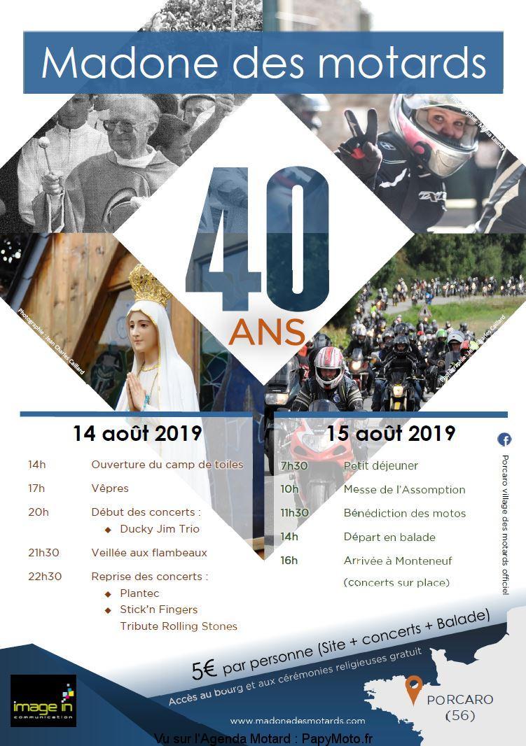 Madone des Motards 2019 – 40 Ans – Porcaro (56)