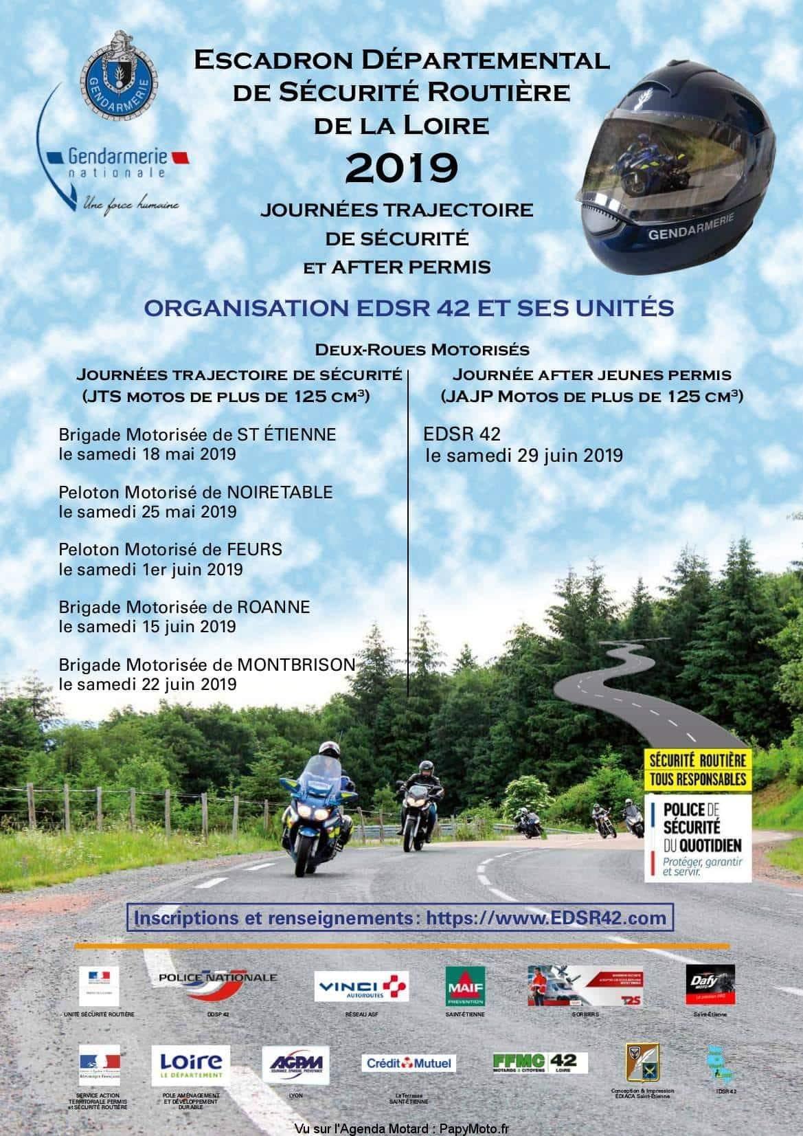 Journées trajectoire de sécurité et after permis – EDSR 42 – Loire (42)