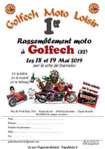 1er Rassemblement Moto - Golfech Moto Loisir - Golfech (82) @ SIte de Darreloc