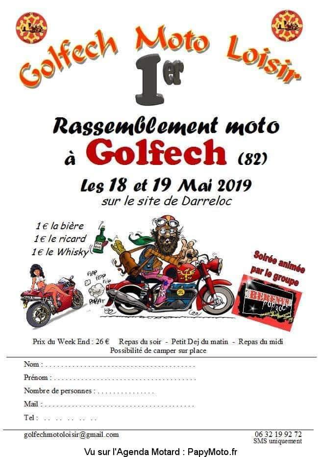 1er Rassemblement Moto – Golfech Moto Loisir – Golfech (82)