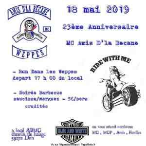 23e Anniversaire - Amis d'la Bécane - Don (59) @ Local ABMC Chemin du halage