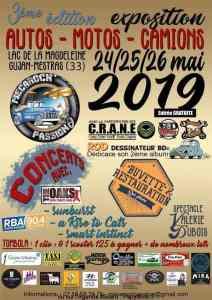 3e Exposition Autos Motos Camions – Gujan-Mestras(33) @ Lac de la Madeleine