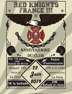 Anniversaire du club - Red Knights France III - La Fère (02) @ La Fère | Hauts-de-France | France