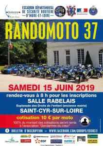Randomoto 37 - Saint-Cyr-sur-Loire (37) @ Esplanade des Droits de l'enfant