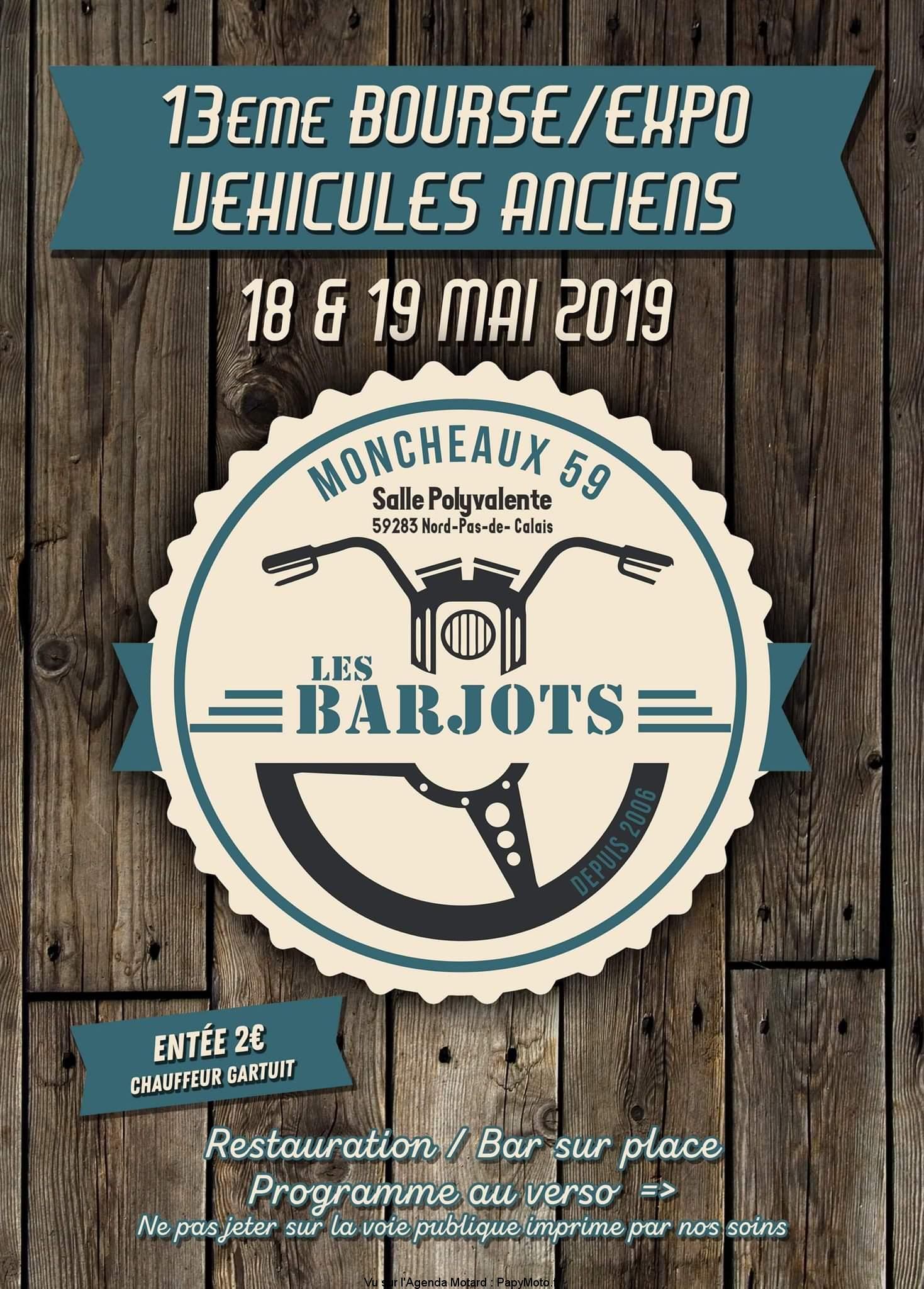 13e Bourse Expo véhicules anciens – Les Barjots – Moncheaux (59)