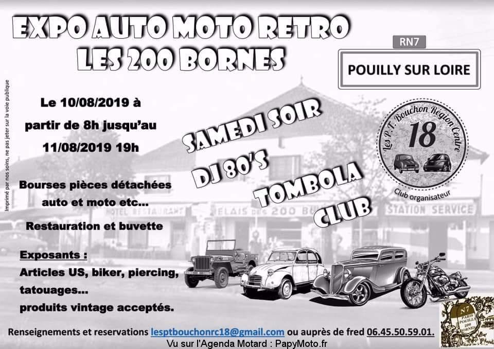Expo Auto Moto Rétro – Les 200 Bornes – Pouilly-sur-Loire  (58)