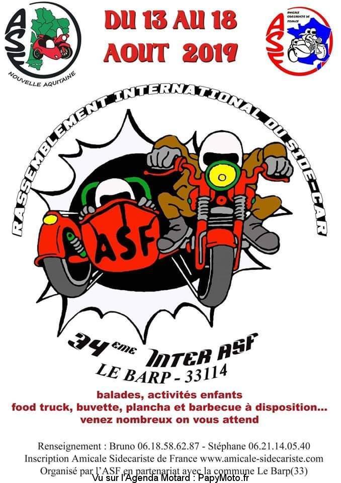 34e Inter ASF – Rassemblement International du Side-Car  – Le Barp (33)