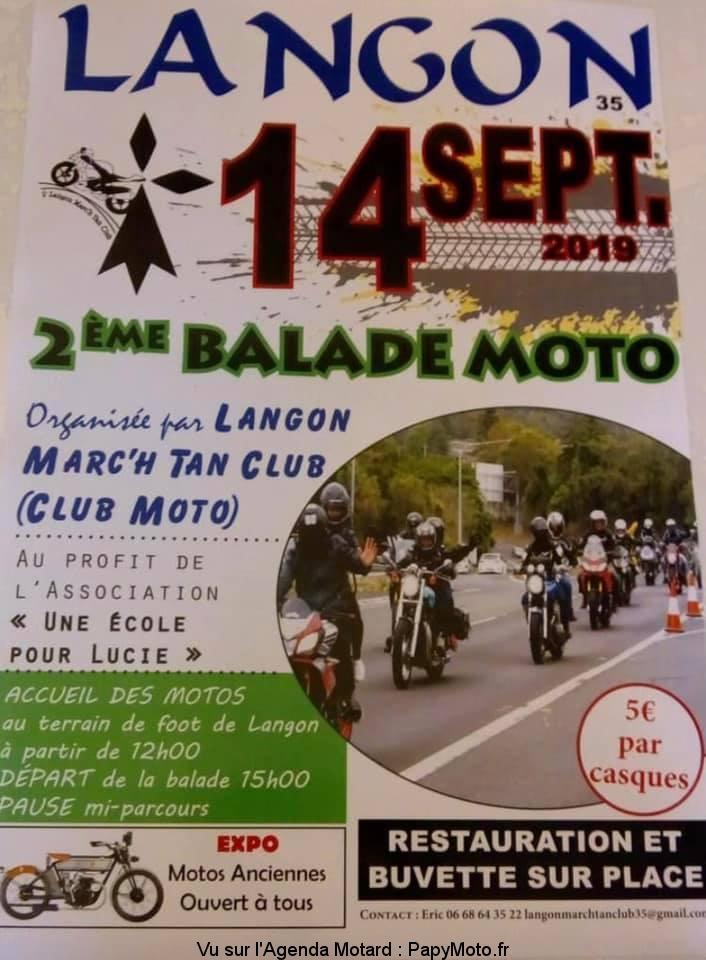 2e Balade Moto – Langon Marc'h Tan Club – Langon (35)