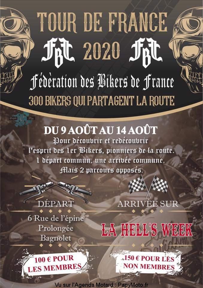 Tour de France 2020 – Fédération des Bikers de France – Bagnolet (93)