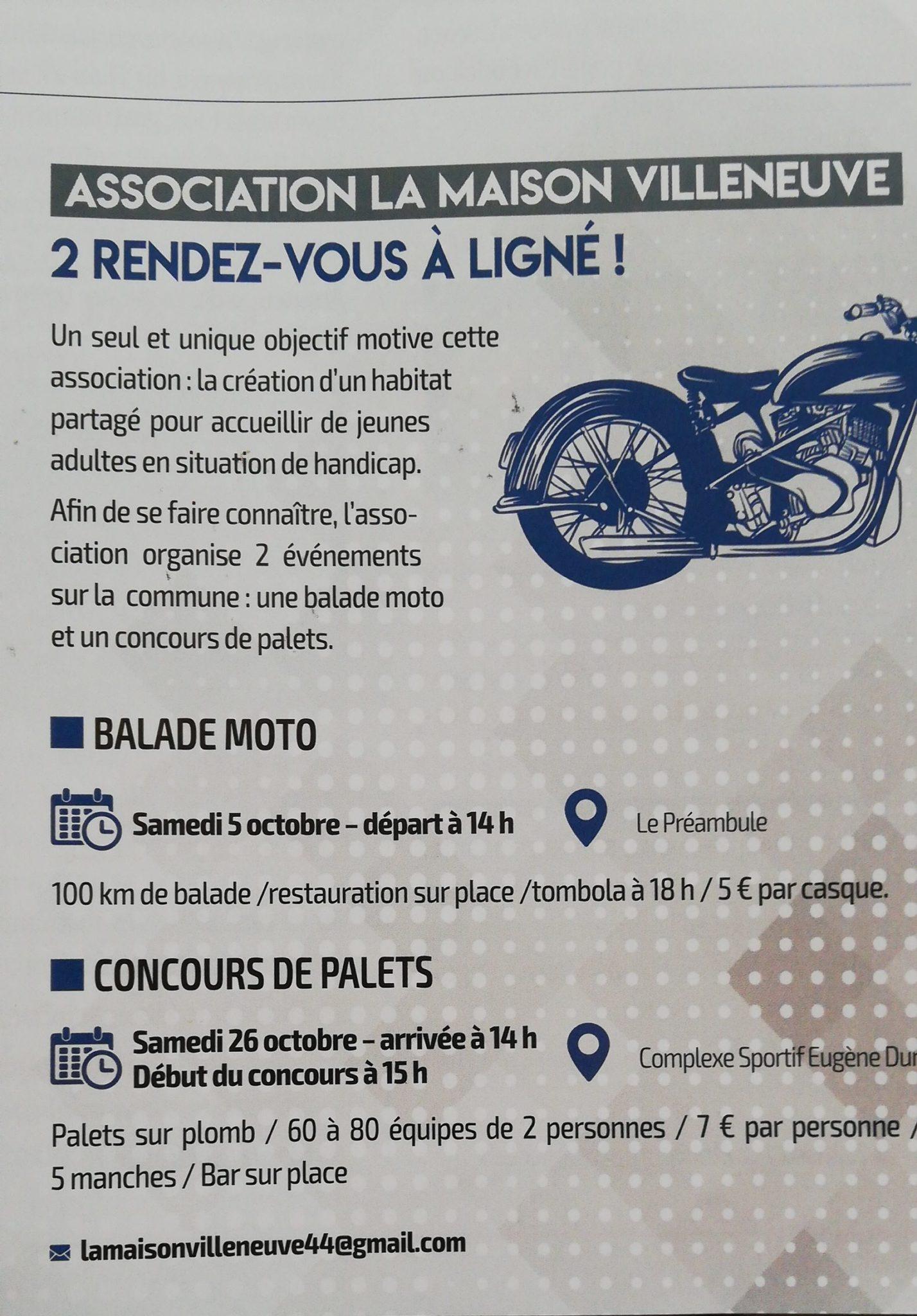 Balade Moto La maison Villeneuve – Ligné (44)