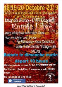 Concentration Moto d'automne – Liberty Rider MCP 17– Genouillé (17) @ Etang des Rosées | Genouillé | Nouvelle-Aquitaine | France