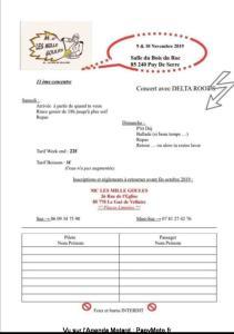 13e Concentre - les Mille Goules – Puy de Serre (85) @ Salle du Bois du Roc