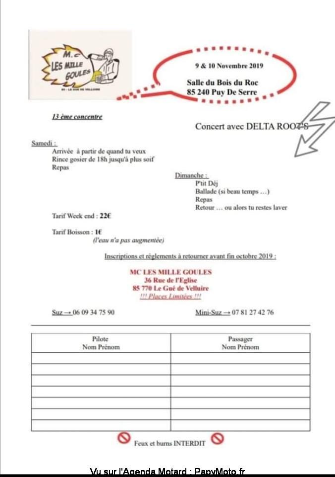13e Concentre – les Mille Goules – Puy de Serre (85)