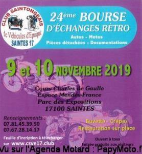 24e Bourse d'échanges Rétro Auto Motos – Saintes (17) @ Saintes | Nouvelle-Aquitaine | France
