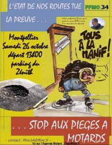 Stop aux piéges à motards - FFMC 34 - Montpellier (34) @ Zenith