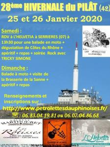 28e Hivernale du Pilât – Serriéres (07) @ L'Helvétia | Serrières | Auvergne-Rhône-Alpes | France