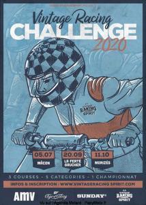 Vintage Racing Challenge 2020 - Mâcon (71) - La Ferté-Gaucher (77) - Morizès (33)