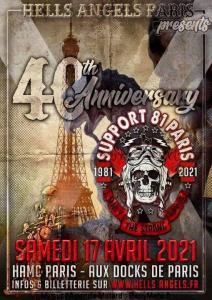 40th Anniversary Hells Angels Paris - Paris (75) @ - Paris (75)