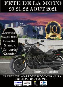 Fête de la Moto- 10e Anniversaire – Rieux Minervois (11) @ – Rieux Minervois (11)